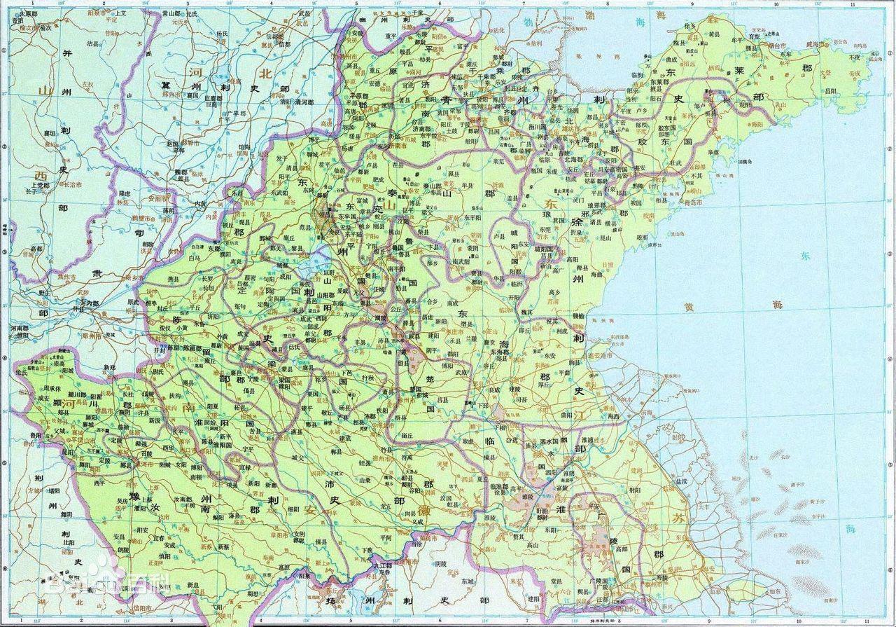三国时期徐州地图